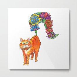 Classy Cat Chloe Metal Print