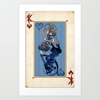 kingdom hearts Art Prints featuring The Kingdom of Hearts by Sempaiko