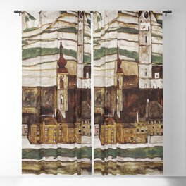 Egon Schiele - Stone on the Danube Blackout Curtain