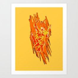 TMNT Rock: Mikey Art Print