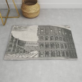 Vintage Diagram of The Roman Colosseum (1581) Rug