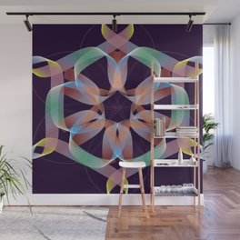 Ribbons and Lines Wall Mural