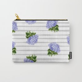 Hydrangeas flower with stripes Carry-All Pouch