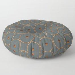 catch || anthracite & ocher Floor Pillow