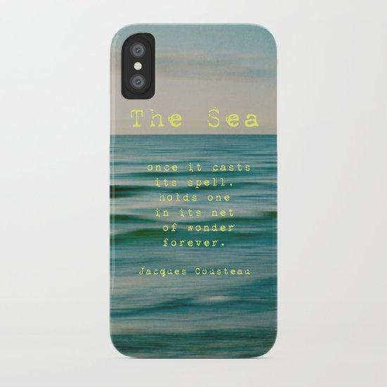 The Sea - typo iPhone Case