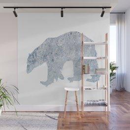 Polar bear North Pole climate ice melting polar bear Wall Mural