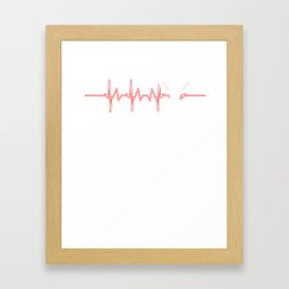 Lacrosse Heartbeat Gameplay Sports Competition Gift Framed Art Print