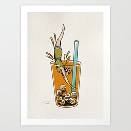 Dive Right In Art Print
