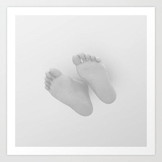 Dancing Barefoot Art Print
