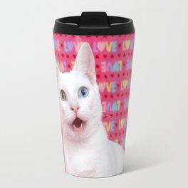 Happy Valentine's Day Kitten Travel Mug