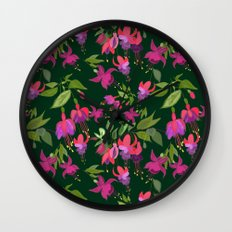 April blooms(Fuchsia)  Wall Clock