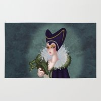 maleficent Area & Throw Rugs featuring Maleficent by bakarti