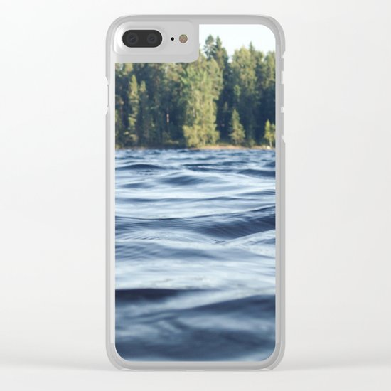 Summer Forest Lake Clear iPhone Case