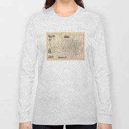 Vintage Map of Bristol England (1851) Long Sleeve T-shirt