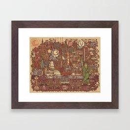 NYC Island Framed Art Print