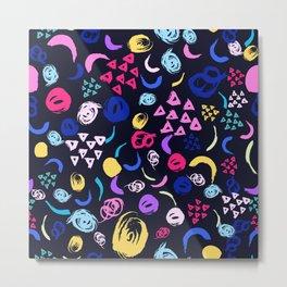 Colorful brush strokes Metal Print