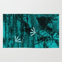 turquoise Area & Throw Rugs featuring Turquoise by LoRo  Art & Pictures