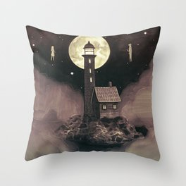 Lighthouse Ghosts Throw Pillow