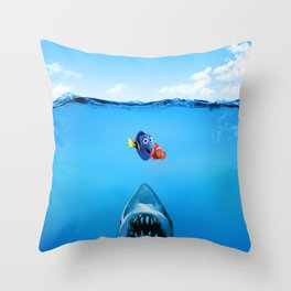 Shark Attack Nemo Throw Pillow