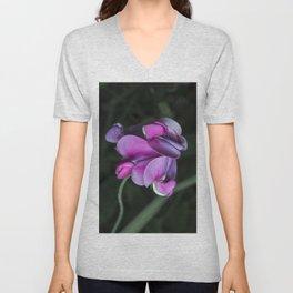 Sweet pea flowers Unisex V-Neck