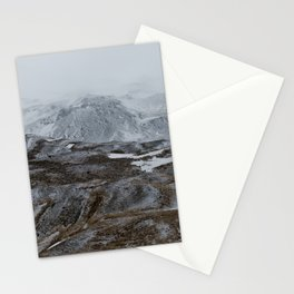 Layers of snowy montains Stationery Cards