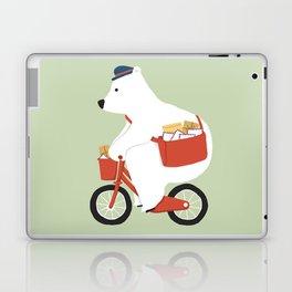 Polar bear postal express Laptop & iPad Skin