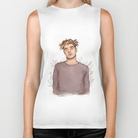 coconutwishes Biker Tanks featuring Flower crown Liam by Coconut Wishes