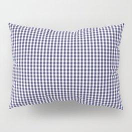 USA Flag Blue and White Gingham Checked Pillow Sham