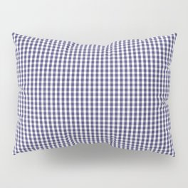 USA Flag Blue and White Gingham Checked Pillow Sham