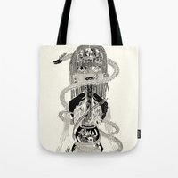 biology Tote Bags featuring Soul Biology  by Ursula Hart