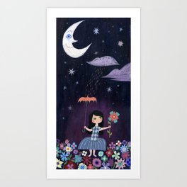 There is just one moon... Art Print