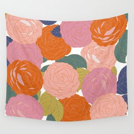 Flowers In Full Bloom Wall Tapestry