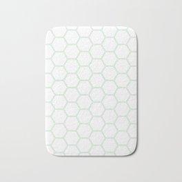 Geometric Honeycomb Pattern - Mint Green #192 Bath Mat