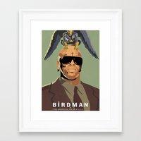 birdman Framed Art Prints featuring Birdman by EZCO