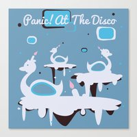 panic at the disco Canvas Prints featuring Panic! at the Disco - Candle Swans by Shana Marie