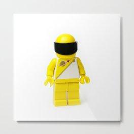 Yellow astronaut Minifig with his visor down Metal Print
