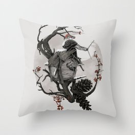 ÆFTERA YULE Throw Pillow