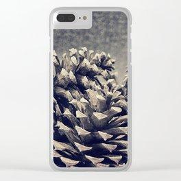Pine Cones Clear iPhone Case