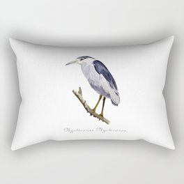 Black-crowned night heron Rectangular Pillow