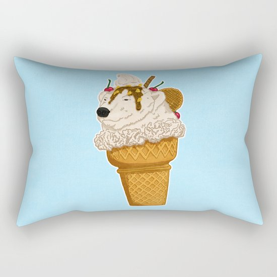 Polar Bear Ice Cream Rectangular Pillow