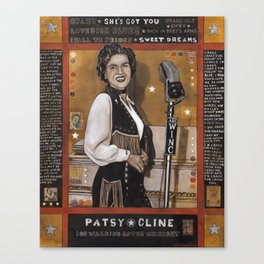 Patsy Cline Canvas Print