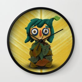 Leaf kid Wall Clock