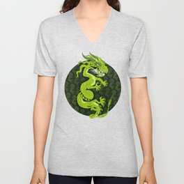 Jade Dragon Unisex V-Neck