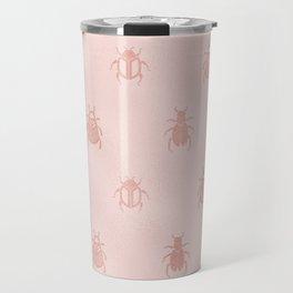 Beetles en rose gold Travel Mug