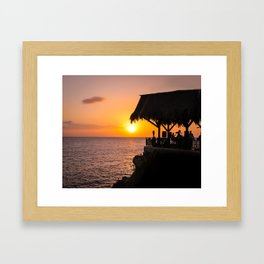 Sunset at Ricks Framed Art Print