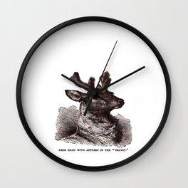 Velvet Antlers Wall Clock