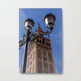 La Giralda, Cathedral of Seville - Spain Metal Print