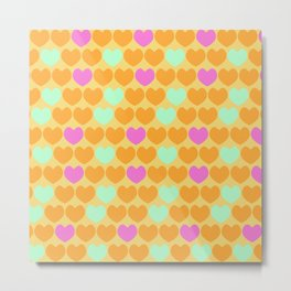 Rainbow hearts Metal Print