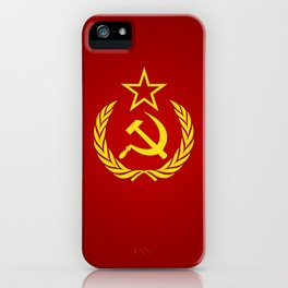 Hammer and Sickle Textured Flag iPhone Case