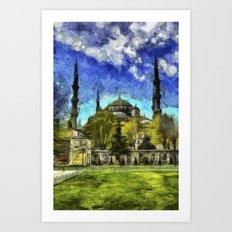 Blue Mosque Istanbul Art Art Print